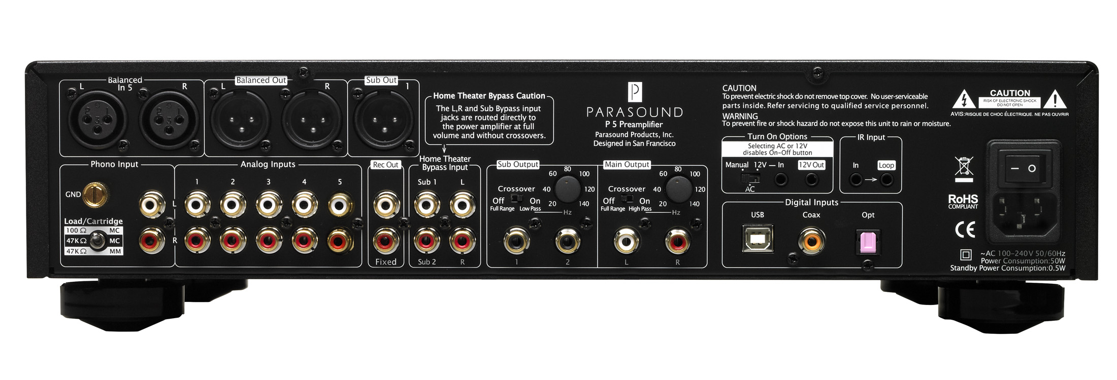 Product Lines Gt Halo Gt P 5 2 1 Channel Stereo Preamplifier