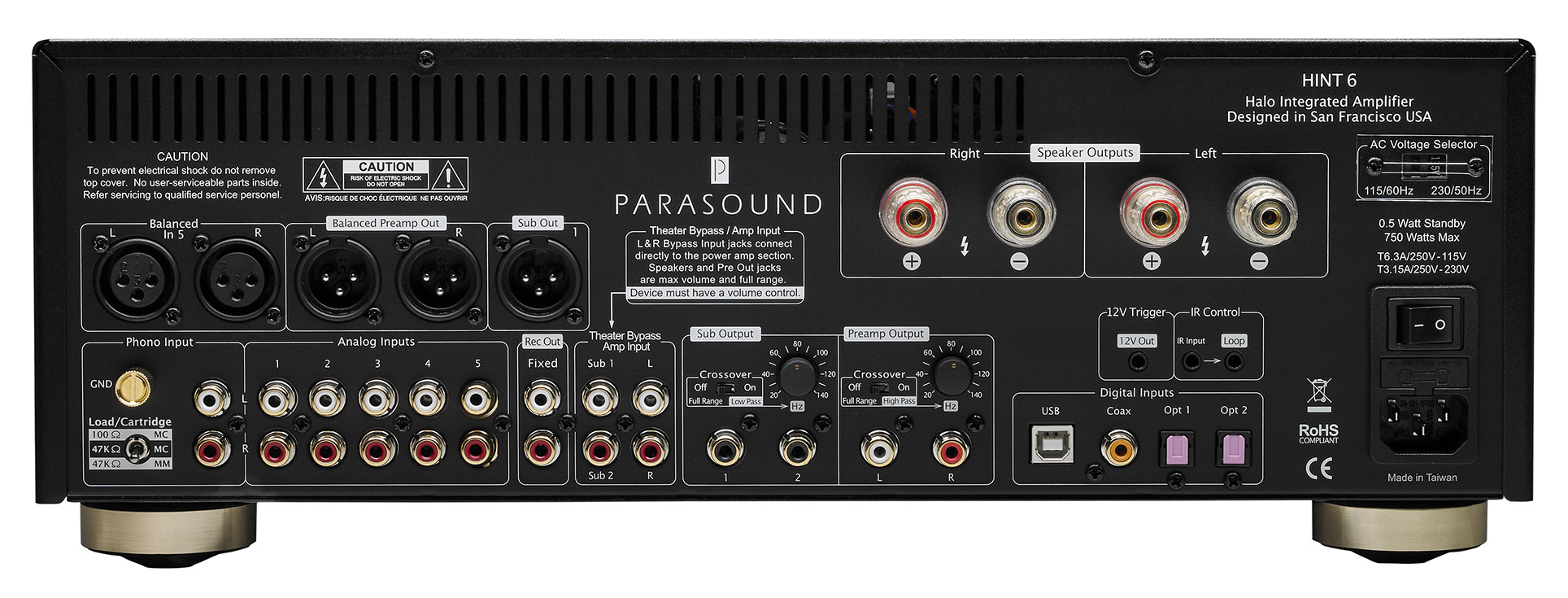 Model Hint 6 Halo Integrated Amplifier Parasound 32 Watt Ignore Hidden Image Used For Preloading Purposes